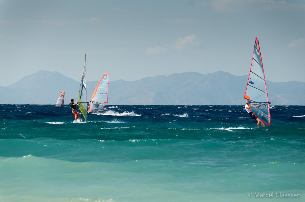 Surfen bij een lekker windje